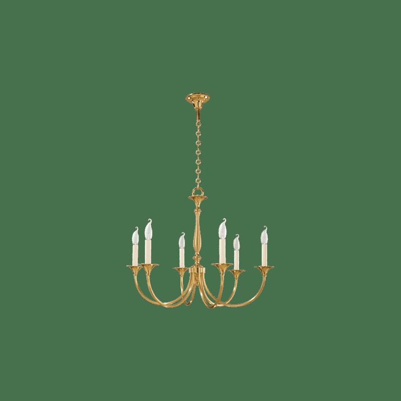 Lucien Gau Classique six-light chandelier 17806 Sologne