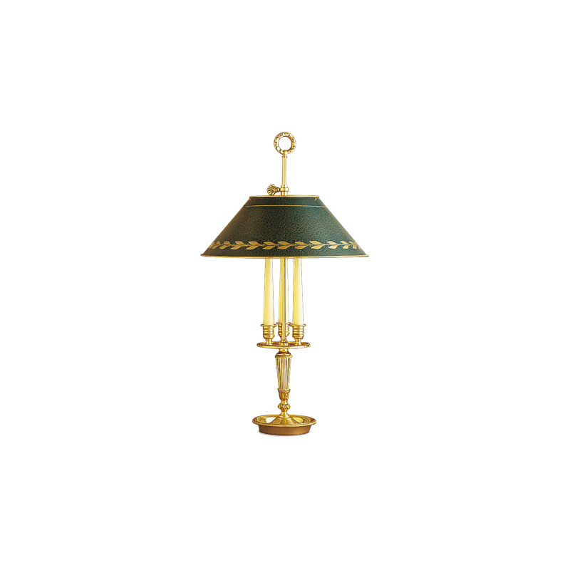 Lucien Gau Empire lamp with two lights with lampshade 15123