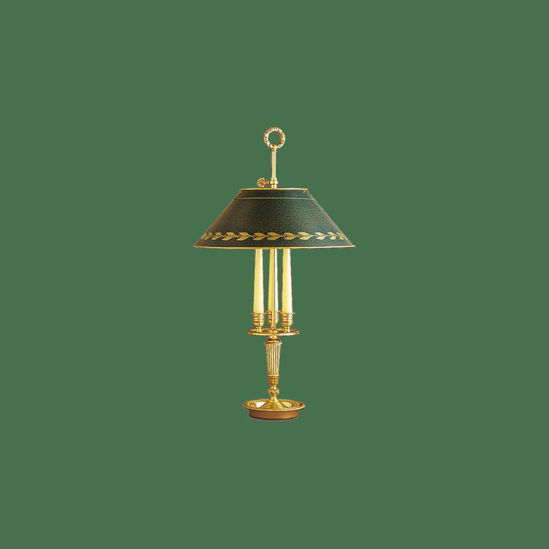 Lucien Gau Empire Lampe mit zwei Lichtern mit Lampenschirm 15123