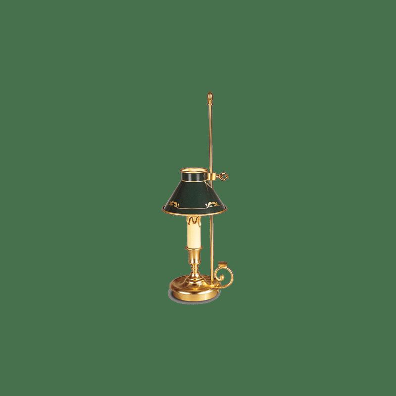 Kerzenhalter-Tischlampe im Empire-Stil von Lucien Gau mit Lampenschirm 15081