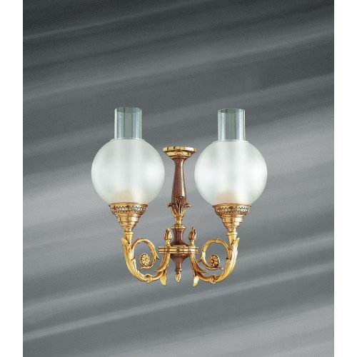 Lucien Gau Bronze wall lamp Restauration with two lights 18602