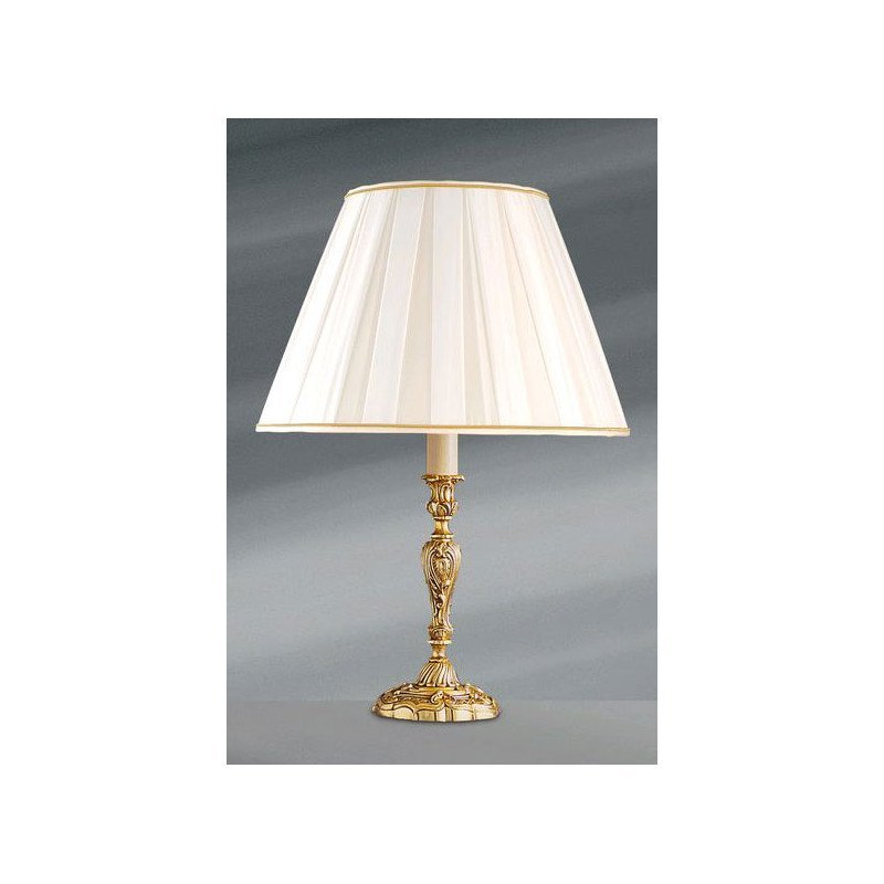 Lucien Gau Louis XV table lamp with lampshade small model 15471