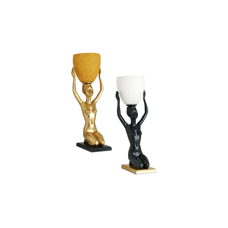 Lucien Gau Classic table lamp with glassware 37051 ethnic group
