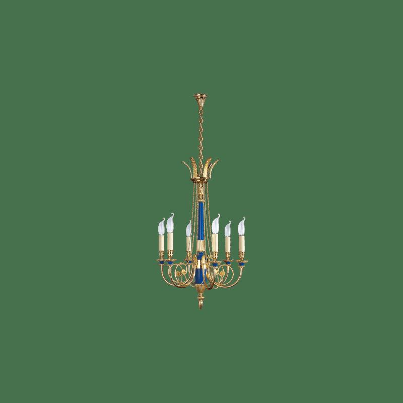 Lucien Gau Solid bronze chandelier 16726 bis Directoire