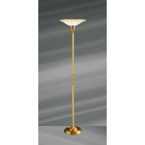 Lucien Gau Louis XVI bronze floor lamp with frosted glass diffuser 16291