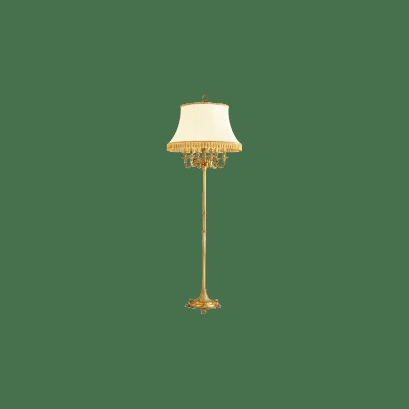 Lucien Gau Bronze Stehleuchte mit Lampenschirm mit sechs Leuchten 16136 Louis XVI