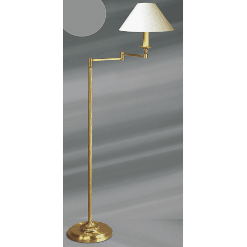 Lucien Gau Louis XVI style articulated floor lamp with lampshade 16111