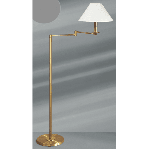 Lucien Gau Articulated floor lamp with single light and lamp shade 18001 Classique